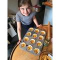 Cornflakes/syrup tarts...yum!