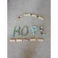 Isaac's marbles of hope!