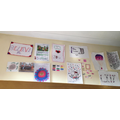 Lily's gorgeous Art wall in her bedroom - WOW!