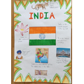 Esme brilliantly colourful Indian Poster