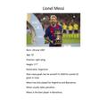 Teddy's Football Icon Messi