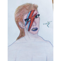 Pearl's stunning rawing of a true icon David Bowie