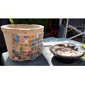 Gorgeous homemade mosaic pots Dorcas