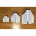 Three types of paper plane and test flying - Isla