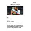 Teddy's Football Icon Ronaldo