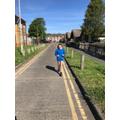 Real dedication to running!