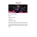 Teddy's Football Icon Neymar