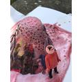 Isla's Science experiment exploding volcano!