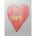 HeartArt on a canvas - well done Zack