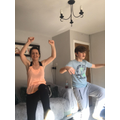 Miss L and Miles hitting some Joe Wicks!