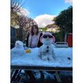 Cool snowman!