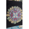 Colourful and creative Chalk Rangoli Dorcas