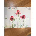Pretty Poppies: Esme's VE Day poster