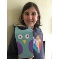 Wonderful recycled owl