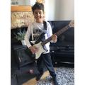 Guitar practising!