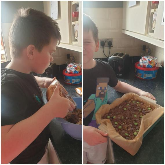 Henry M has baked a gruffalo crumble!