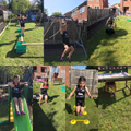 Holly made a fantastic, fun obstacle course!