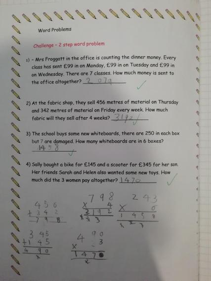 Brilliant maths work Henry J.