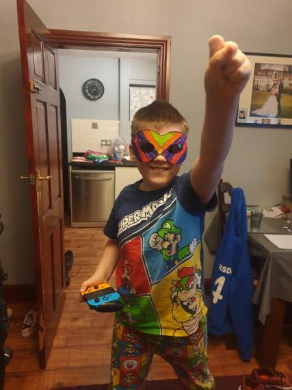 Brilliant superhero costume Henry M!