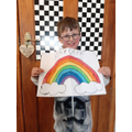 Reece painted a fantastic rainbow, well done Reece
