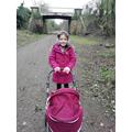 Lucy enjoying a lovely winter walk