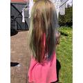 Beautiful rainbow hair