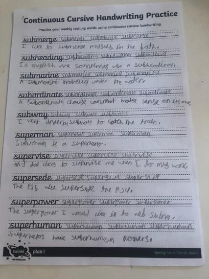 Brilliant spelling sentences Zak.