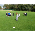 We ran around the field to find numbers to 5.