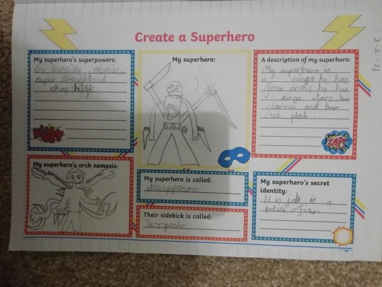 Fantastic superhero design Henry J!