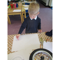 Drawing the shapes on the wheel