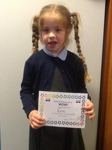 Erin's confidence has grown so much and she has found her 'big voice' which is amazing!