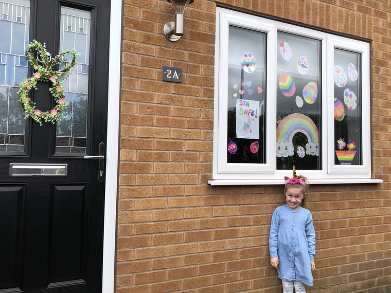 Lily and her Easter window