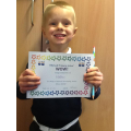 Matthew has been working hard on his handwriting and he doing so well!