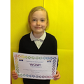 Rebecca is a superstar and focuses well on her work.