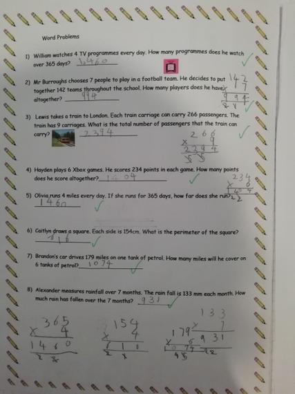 Fantastic understanding of multiplication Henry J.