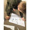Joel creating his treasure map