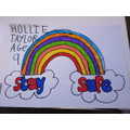 Hollie's stay safe poster.