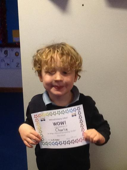 Charlie has been amazing this week. He has been smiley and chatty and a very happy boy.
