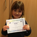 Amelia is just ALWAYS doing her best. She works hard in every lesson. Super job!
