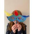 Libby's superhero mask