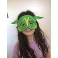 Gracie-Mae's superhero mask