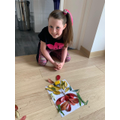 Isabelle created fantastic butterfly art.