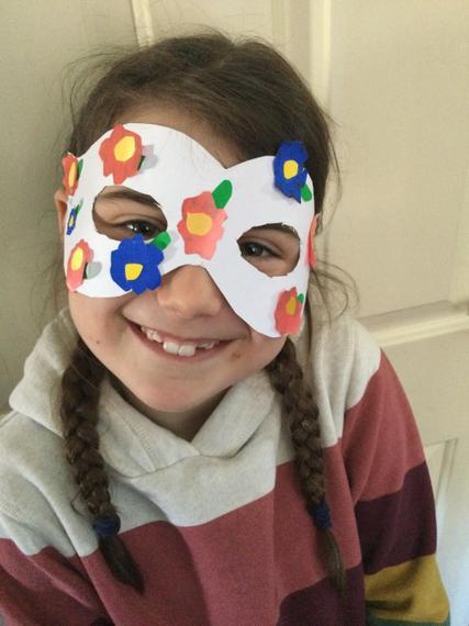 Fantastic superhero mask Holly.