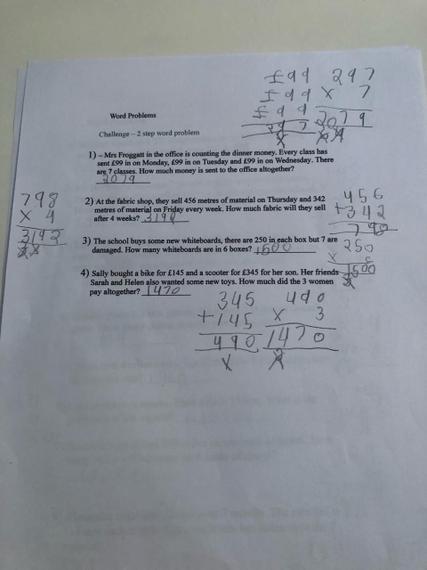 Fantastic maths work Zak.