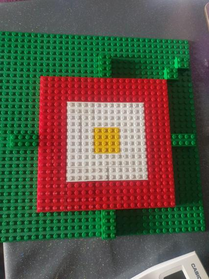 Brilliant Tudor rose made out of lego Henry M!