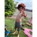 Ethan looks like he needs a hair cut!