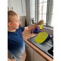 Archie testing the liquids