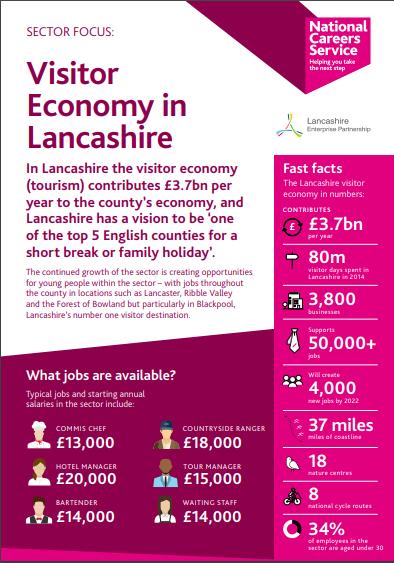 Lancashire Skills Hub-   Visitor Economy in Lancashire  Fact sheet
