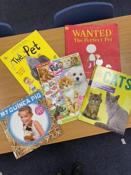 We have enjoyed reading bokos and magazines about pets.