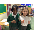 Making fruit salad in our food glorious food topic!